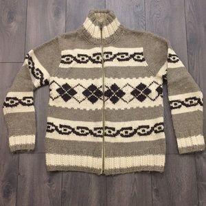 Men's Heavy Wool Zip-Up Sweater